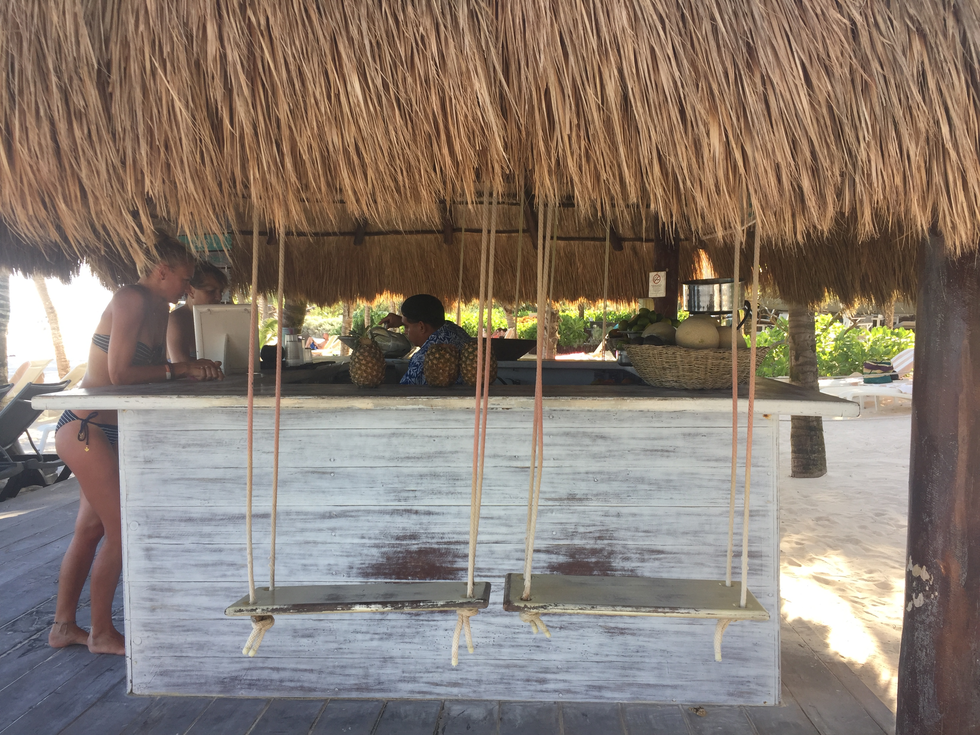 Bar de jugos que puedes encontrar en la playa.